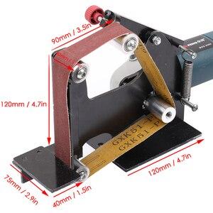Image 5 - Elektrische Eisen Winkel Grinder Schleifen Gürtel Adapter Für 100/115 125 Zubehör von Schleif Maschine Schleifen Polieren Maschine