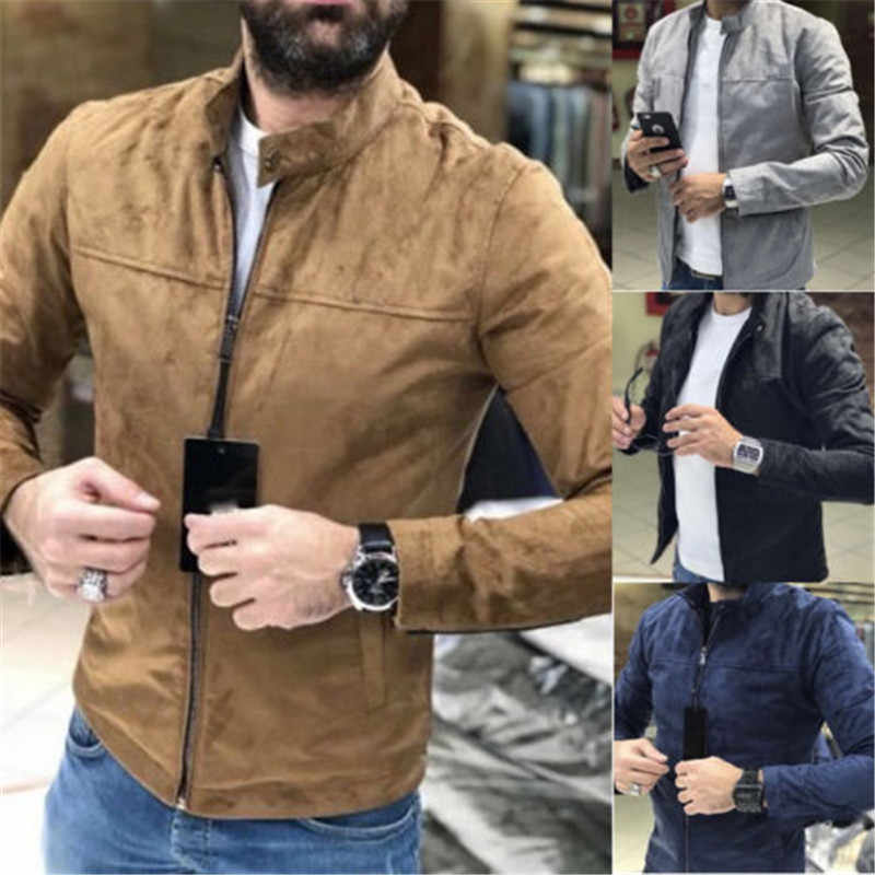 Fashion Men/'s Zip Jacket Slim Collar Coat Overcoat Casual Outwear Blouse