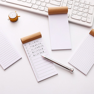 SIXONE Pocket Kraft Paper Memo Pad Notepad Stationery Scrapbooking Memo Notes To Do List Tear Checklist Note Pad
