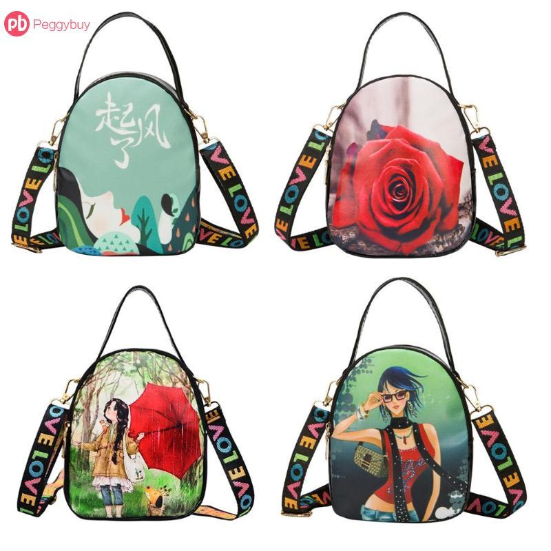 Mini Koreanische Stil Mädchen Floral Print Schulter Messenger Tasche Kawaii Kleine Leder Handtasche Für Frauen Sling Umhängetaschen Spezieller Sommer Sale