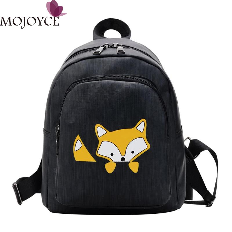 2019 New Female Small Casual Cute Cartoon Fox Print Backpacks Women Travel School Bags Girls Book Bags Mochila Feminina 2019 New Female Small Casual Cute Cartoon Fox Print Backpacks Women Travel School Bags Girls Book Bags Mochila Feminina