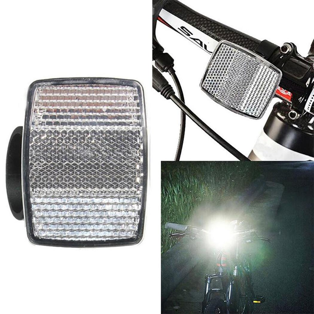 Cycling Square Tool Rear Red Front Night Bicycle Safety Accessory White Reflector Bike