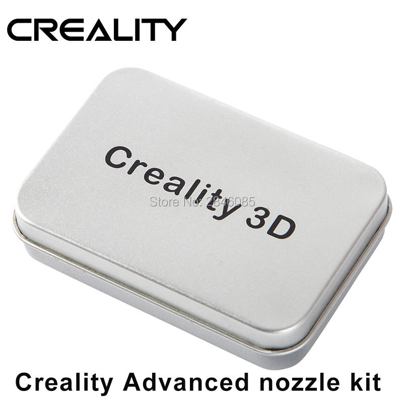 CREALITY 3D Printer Parts Advanced Nozzle Size 1*0.2mm/2*0.4mm/1*0.6mm/1*0.8mm For 1.75mm Extruder Print Head Brass MK8 Makerbot