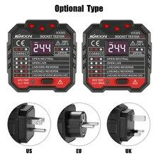 Digital Display Elektrische Steckdose Tester Wand Stecker Polarität Phase Überprüfen Detektor Outlet Spannung Test Elektroskop UK Stecker 30mA
