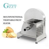 GZZT Ticari Manuel Dilimleme Makinesi Sebze Meyve Patates Limon Kesici 0.8-12mm Kesme Kalınlığı Paslanmaz Çelik Bıçak