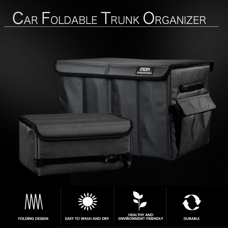 Car Trunk Storage Bag Eco Friendly Oxford Cloth Super Durable Folding Cargo Storage Box SUV Truck