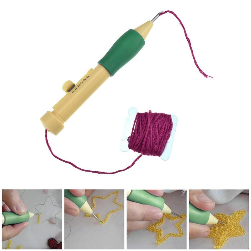 Embroidery Needle Weaving Tool Embroidery Pen Needles Stitches Weaving Tool Sewing Kit Threads Sewing Accessory