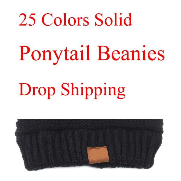 46a0ceeb5 US $2.88 Fashion Ponytail Beanie Women Stretch Knitted Crochet ...