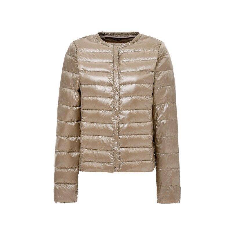 2018 New Ultra-light Women   Down   Jacket Winter Round Neck Protable Jackets   Down     Coat