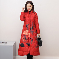 Cotton padded New Arrival Promotion Long No Full Lace Clothes 2019 Winter Restore Ancient Ways Nation Wind Cotton Jacket Loose