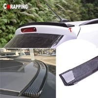 Universal Car Rear Roof Splitter Spoiler 5d Carbon Fiber Strip Trim Auto Tail Wing Protector Trunk Lip soft style Body Stickers