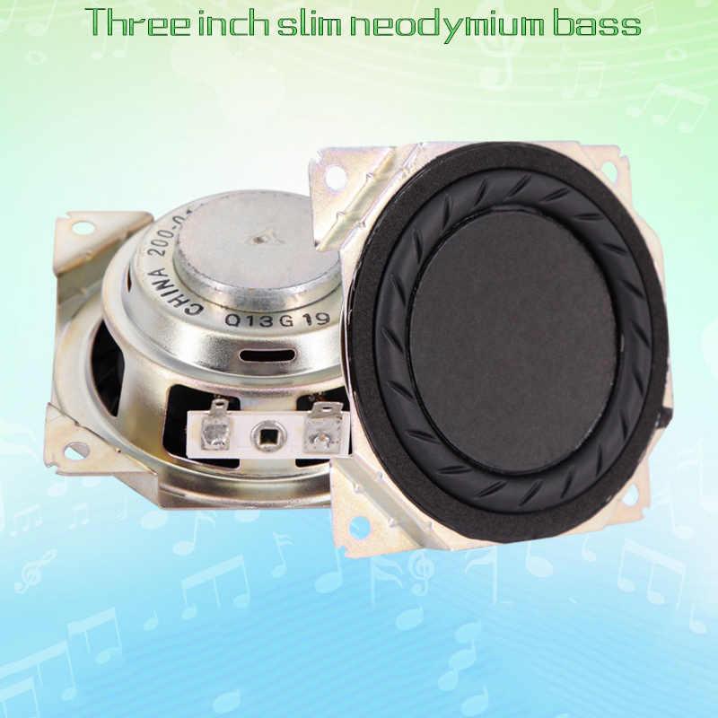 3 дюймов ультра-тонкий Nd Магнитный бас-гудок Динамик 20 Вт 4 динамик 8 Ом Hi-Fi сабвуфер громкий Динамик Рог Suber бас 80x35 мм