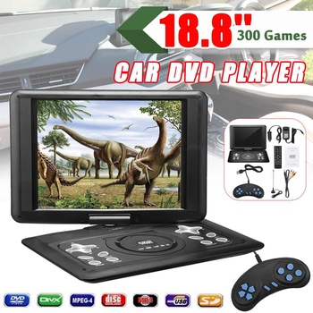 "18.8"" Portable Home Car Mini DVD Player HD+270 Rotate LCD Screen TV EVD USB+Gamepad Drop Ship 16:9 LCD Screen 800x600 Resolution"