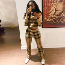 US $24.96 52% OFF|2019 Female TWO PIECE SET Hoodie Plaid Tracksuit Women Clothing Runway Track Suit Pants Striped Costumes Sweatsuits Harajuku PCS-in Women's Sets from Women's Clothing on Aliexpress.com | Alibaba Group