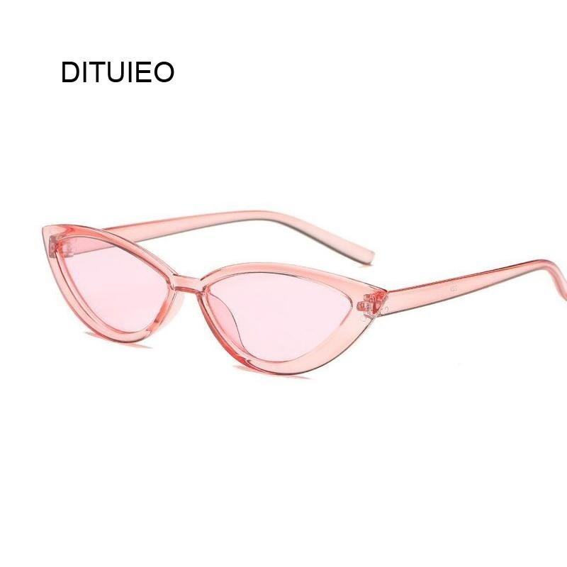 <font><b>Cute</b></font> <font><b>Sexy</b></font> <font><b>Retro</b></font> <font><b>Cat</b></font> <font><b>Eye</b></font> <font><b>Sunglasses</b></font> Women Small Black Transparent Pink 2019 Triangle Vintage Cheap Sun Glasses Red Female Uv400 image