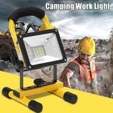 2000LM COB светодиодный портативный прожектор, фонарь для кемпинга, перезаряжаемый ручной рабочий свет, мощность 18650, портативный фонарь