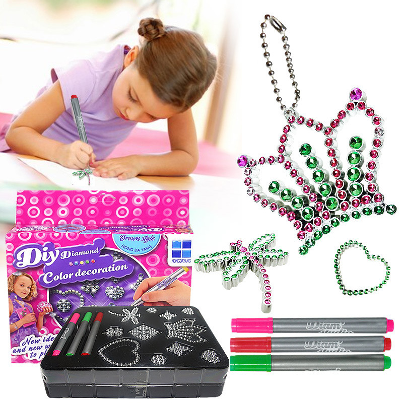 DIY Painting Beads Toys Set Color Decoration Diamond Jewelry Fashion Kit Accessories Jewelry Making Set Toy For Girl