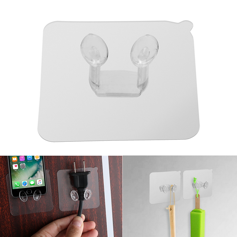 Power Plug Socket Hanger Holder Strong Adhesive Hook Multi-function Wall Storage Hooks Wall Mounted Self Sticky Hooks