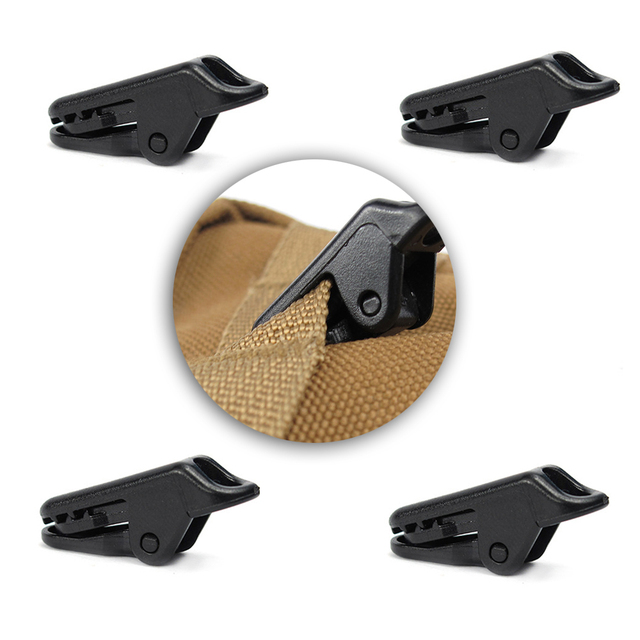 10PCS Tent Clip Outdoor Camping Pull Point Alligator Clip Pull Point Hook Buckle For The Tent Crocodile Clip Tent Accessory
