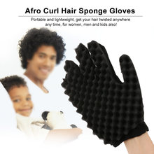 Afro Curl Hair Sponge Gloves Tutorial for Barbers Wave Black Twist Brush Styling Tool For Men and Women Hair Styling Accessories(China)