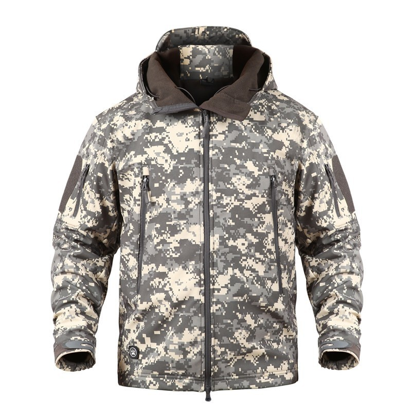 Image 4 - TAD Winter Thermal Fleece Army Camouflage Waterproof Jackets Men  Tactical Military Warm Windproof Jackets Multicolor 5XL CoatJackets