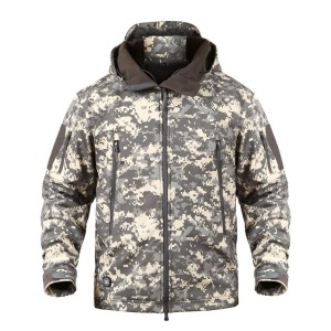 Image 4 - TAD Winter Thermal Fleece Army Camouflage Waterproof Jackets Men Tactical Military Warm Windproof Jackets Multicolor 5XL Coat