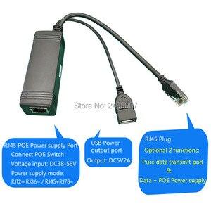 Image 5 - Lihmsek Nổi Bật DC5V 2A USB Nữ PoE Bộ Chia DC38 56V Đầu Vào 802.3af Tiêu Chuẩn 100M Dữ Liệu Truyền Tải Điện Năng Cô Lập PoE