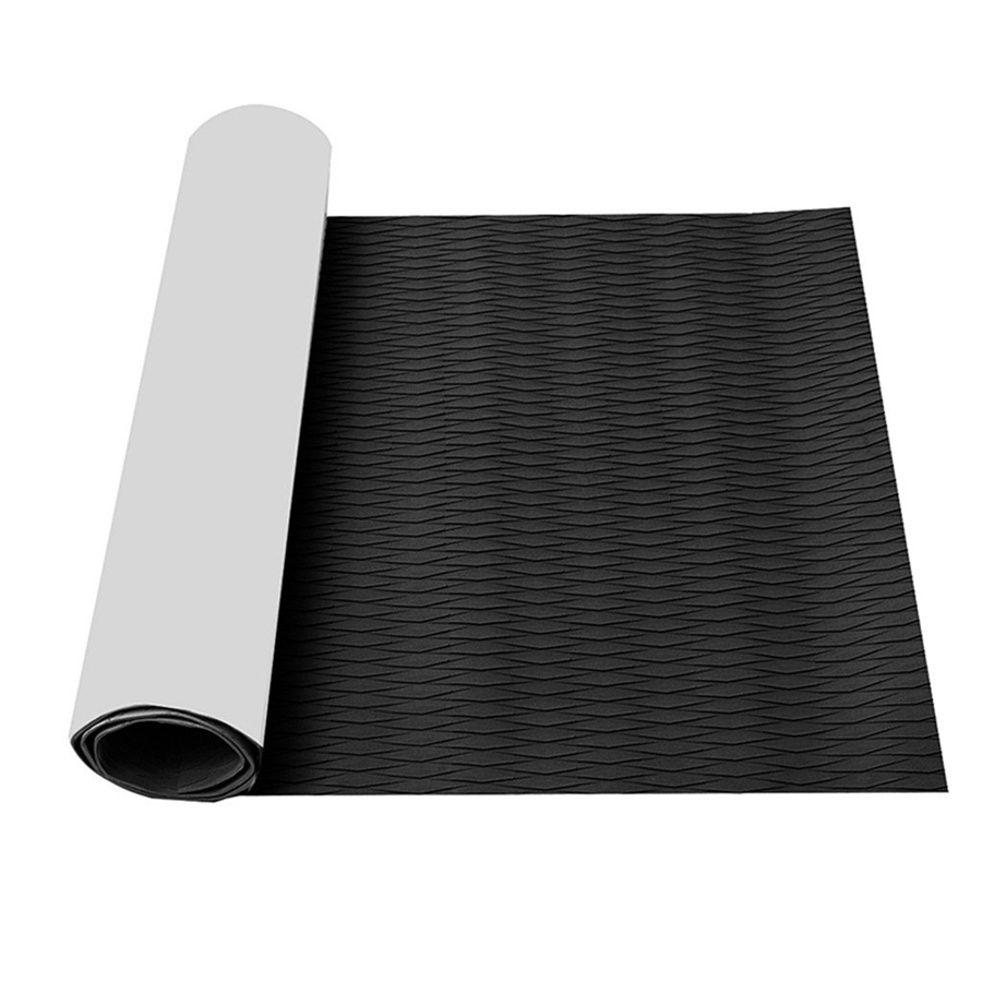 Non-Slip Traction Pad Deck Grip Mat 18in X 87in Trimmable EVA Sheet Strong Adhesive For Boat Kayak Yacht Marine SUP Flooring Pad