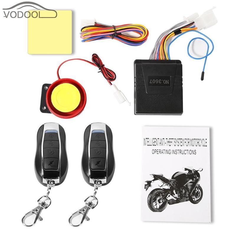 Accesorios Para Moto Universal 12V Alarma Moto Remote Control Motorcycle Alarm System Anti-theft Security Signaling