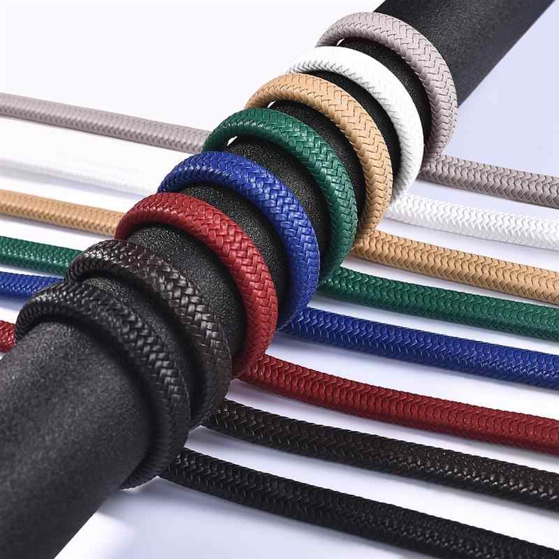 1M~5M 12x6mm Braided Leather Rope Jewelry Making Microfiber Leather Bracelet Rope Accessories Handmade Craft Jewelry Findings