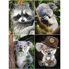HUACAN 5D bricolage diamant broderie Koala diamant peinture pleine carré paresseux mosaïque Animal strass vente décoration de la maison