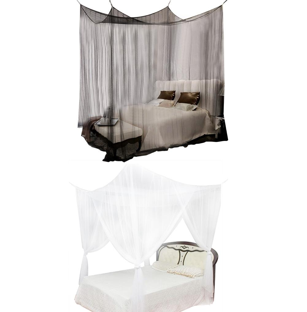 4 corner post bed canopy mosquito net full queen king size - King size canopy bed with curtains ...