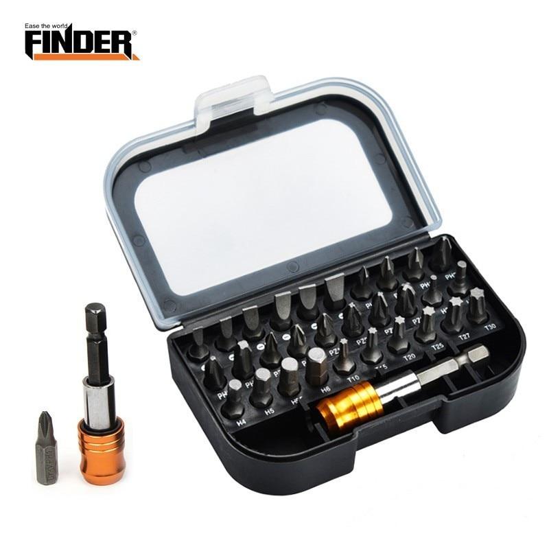 31PCS Holder Professional Screwdriver Bits Set Case Sturdy Chrome Vanadium Steel Screwdriver Torx Hex Head Screw Driver Magnet(China)