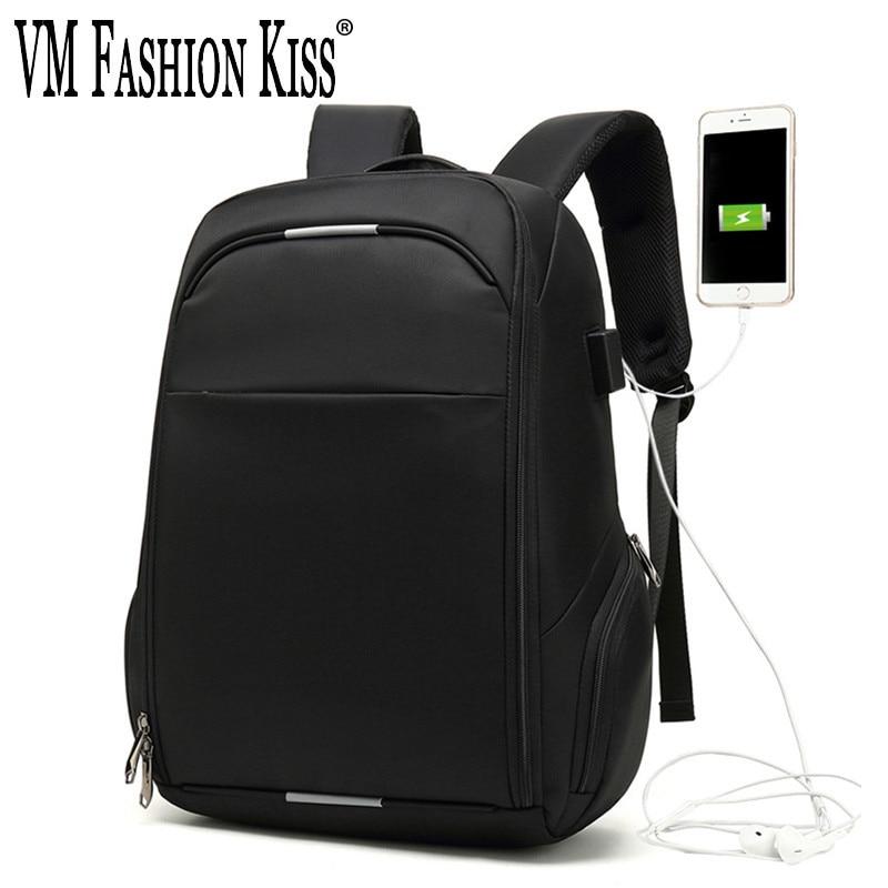 VM модный поцелуй водонепроницаемый рюкзак для ноутбука для мужчин многофункциональный путешествия USB музыка зарядка рюкзаки для подростка...