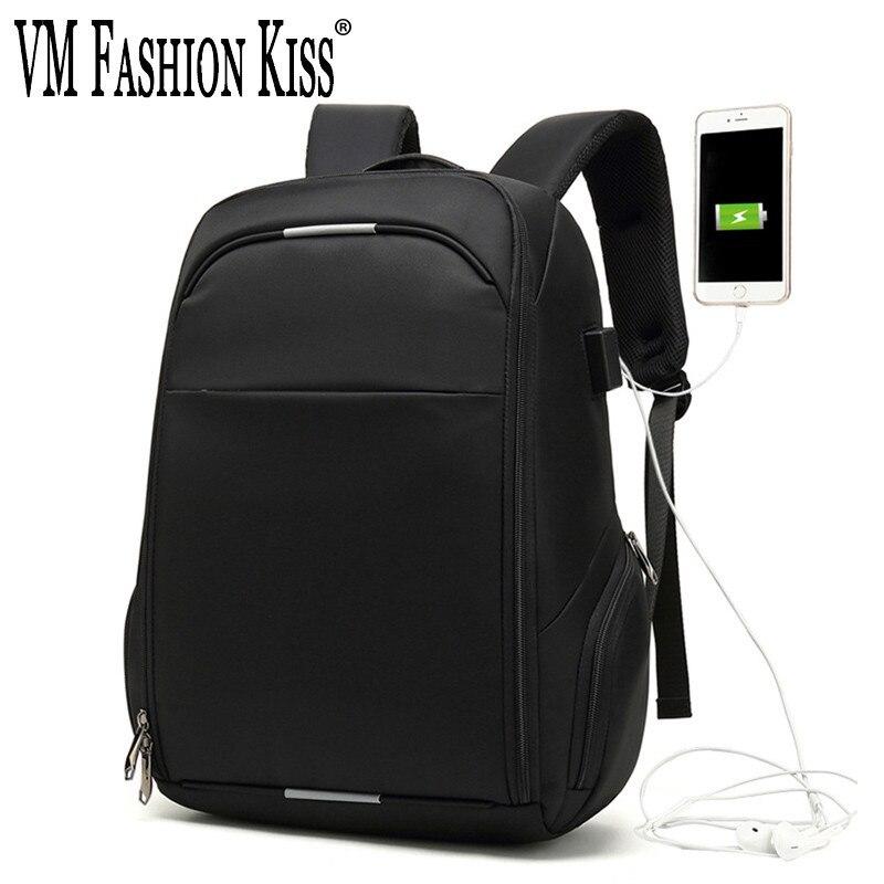 VM mode baiser étanche sac à dos pour ordinateur portable hommes multifonction voyage USB musique charge sacs à dos pour adolescent mâle Anti-voleur