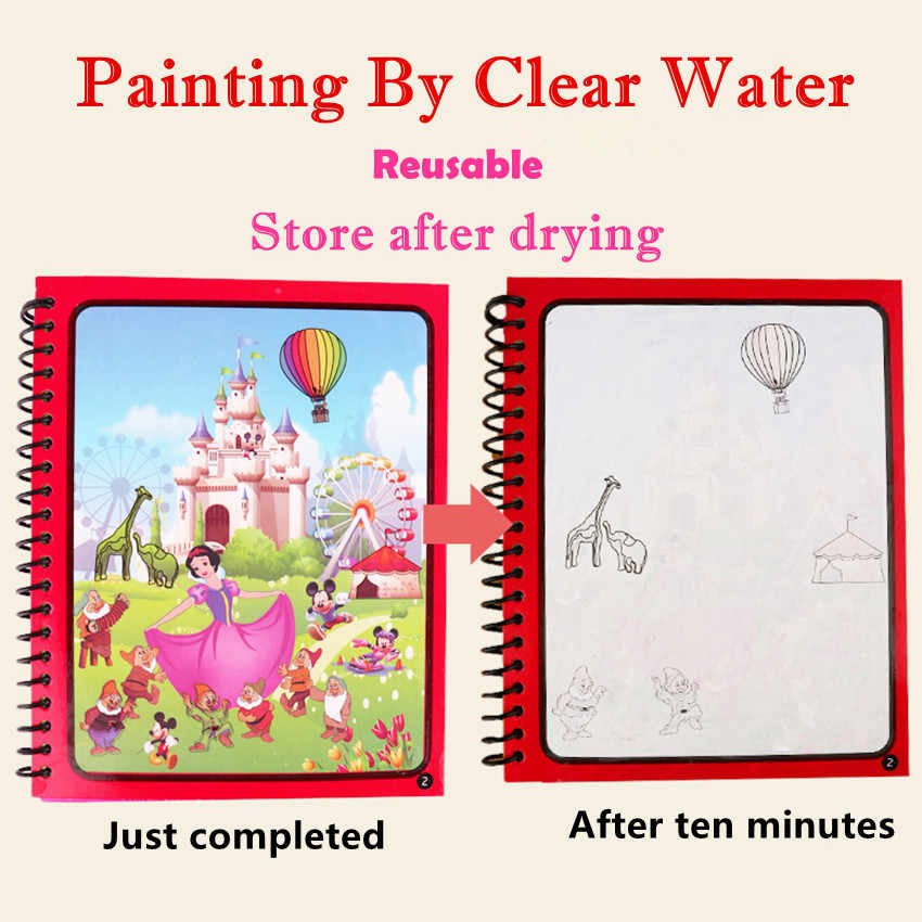 Tavolo da disegno per pittura Montessori per bambini giocattoli libro da colorare Doodle & Magic Pen libro da disegno per acqua magica regalo di compleanno