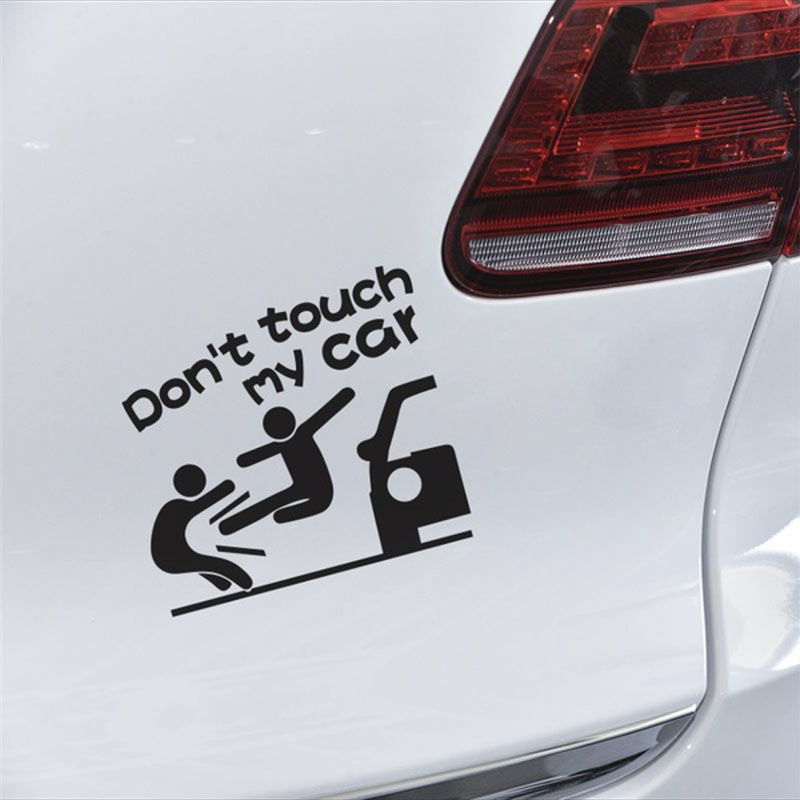 Cartoon Don 39 t Touch My Car Funny Car Sticker Vinyl Decal Cars Truck Window Bumper Decor Sticker Auto Accessories in Car Stickers from Automobiles amp Motorcycles