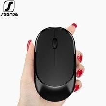 SeenDa бесшумные кнопки 2,4G беспроводная мышь для компьютера ноутбук портативная дорожная мышь мини Ультра тонкая мышь для ноутбук ПК настольный компьютер
