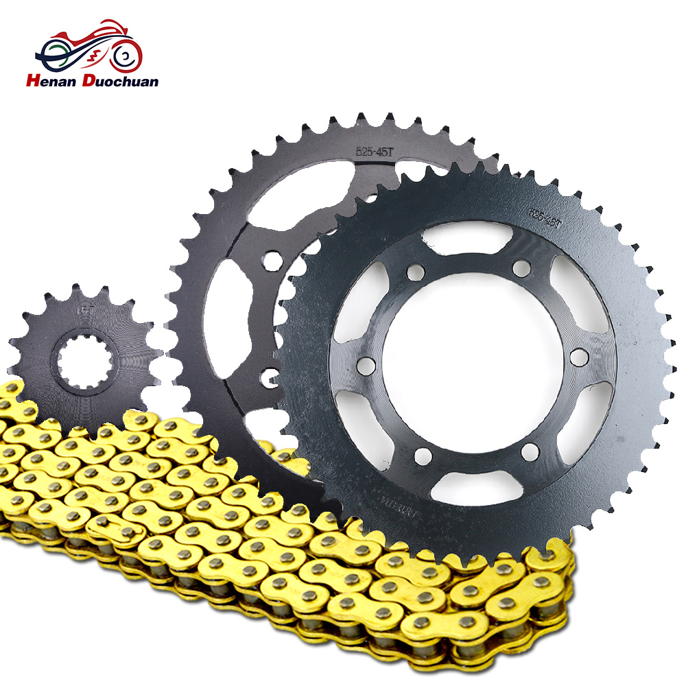 525 16T 45T <font><b>48T</b></font> Motorcycle Chain and Front Rear <font><b>Sprocket</b></font> for Yamaha MT-09 MT09 MTN850 SP SR Street Rally / Sport Tracker 14-18 image