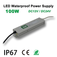 100W Waterproof Power Supply,LED Strip Drive,IP67,DC12/24V,Adapter transformer,Indoor & Outdoor Use,for Linear lighting 24v dc linear actuators set with power supply control box and handset for bed sofa chair use 1set