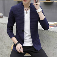 2019 new mi001 knitting cardigan male High collar outer wear spring and autumn light fashion handsome recreational sweater