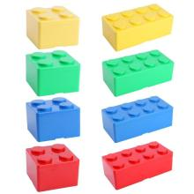 Креативная пластиковая коробка для хранения в форме строительного блока, чехол для офиса, домашнего рабочего стола, органайзер, коробка для хранения ювелирных изделий