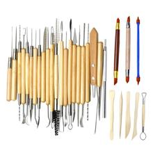 30 PCS Art Craft Shaper Sculpting Knife Sculpture Pottery Carving Sculpting Ceramic Pottery Polymer Modeling Clay Tools Gadgets