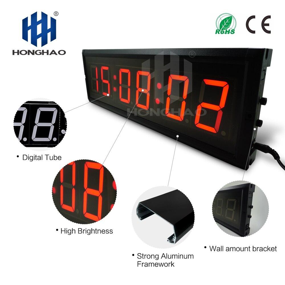 1 шт. большие 3D современные цифровые светодиодный настенные часы 24/12 час дисплей Таймер Будильник - 4