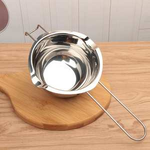 Stainless Steel Chocolate Pot Double Pan Milk Bowl Butter Candy Insulation Pastry Baking