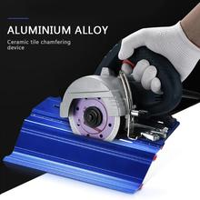 45 Degree Stone Cutting Machine Marble Tile Ceramic Chamfering Cutter Mill Beveled Cutter Chamfer Hand Tool Sets Dropshipping marble machine cutting machine 45 degree oblique cutting wood stone tile profile chainsaw slotting machine gdm13 34