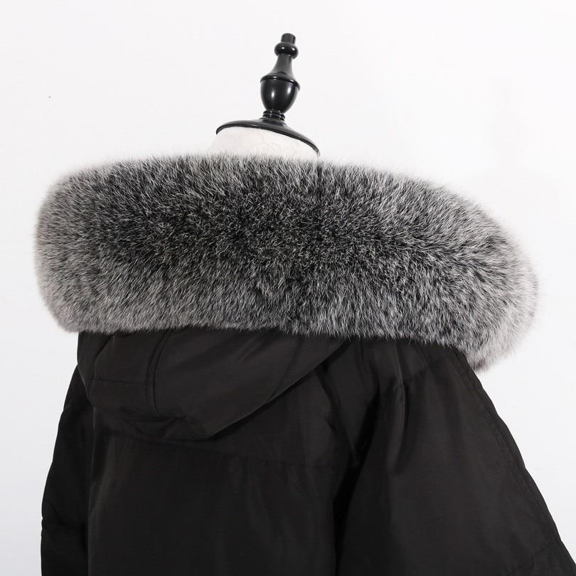 Big Size Woman Fashion 100% Fox Fur Scarf Collar Female Warm Collar Outside