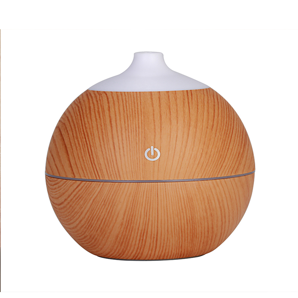 Aroma Air Humidifier With 7 color LED Night light 130ML USB Wood Grain Essential Oil Diffuser Aromatherapy Electric Mist Maker