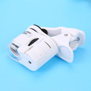 Image 4 - 60X Di Động Điện Thoại Kính Hiển Vi Kính Phóng Đại LED Dụng Cụ Độ Phóng Đại Có Micro Kẹp Camera Với Quang Kính Lúp Đèn LED