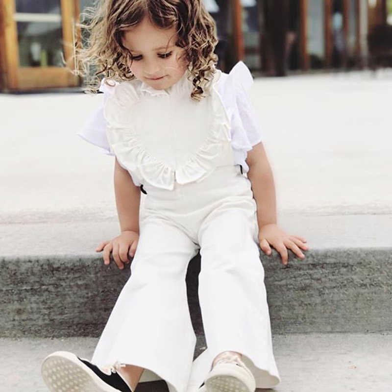 2235d0c054f 2018 Fashion Kids Baby Girl Romper Jumpsuit Ruffles Overalls Romper Jumper  Bell Bottom Trousers Summer Autumn